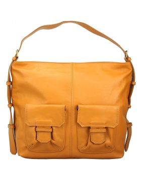 Totally leather shoulder bag - Tan