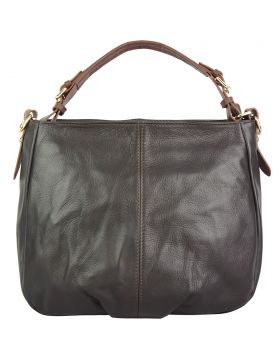 Tournon leather shoulder bag - Dark Brown