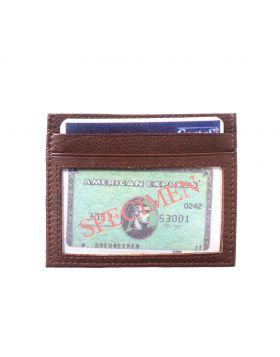 Credit card holder with transparent window - Dark Brown