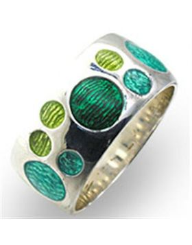 Ring 925 Sterling Silver High-Polished Epoxy Multi Color