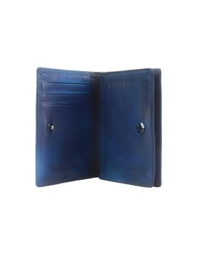 Card Holder in vintage leather - Blue