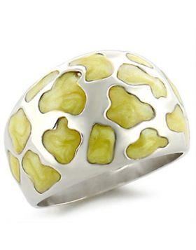 Ring 925 Sterling Silver High-Polished Epoxy Peridot