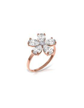 14K Rose Gold Ring w/ Natural Diamond & Rose Topaz