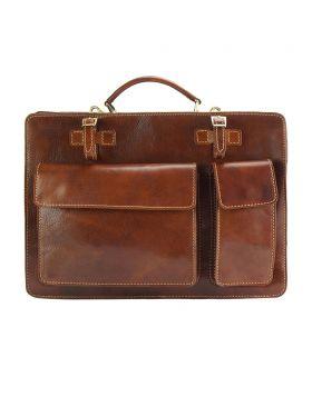 Daniele leather briecase