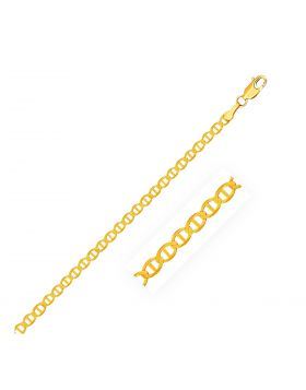 3.2mm 10k Yellow Gold Mariner Link Anklet