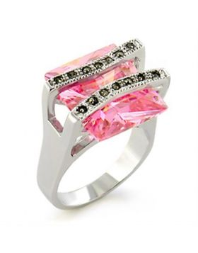 Ring 925 Sterling Silver Antique Tone AAA Grade CZ Rose