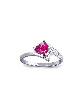 0.95 Carat 14K White Gold Master This Pink Topaz Ring