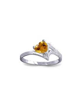 0.95 Carat 14K White Gold Show My Support Citrine Ring