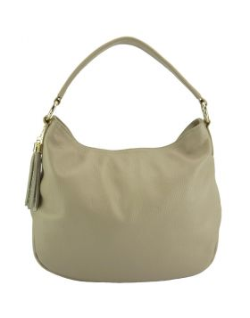 Selene leather Hobo bag - Taupe