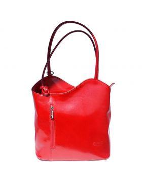 Cloe leather shoulder bag - Red