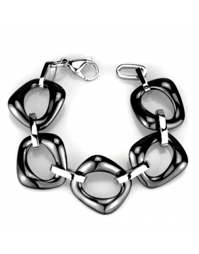 Bracelet Stainless Steel High polished (no plating) Ceramic Jet