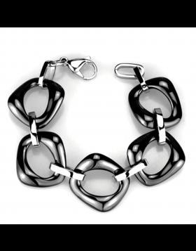 Bracelet Stainless Steel High polished (no plating) Ceramic Jet