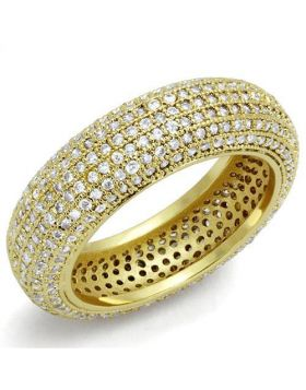 Ring Brass Gold AAA Grade CZ Clear