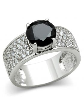Ring Brass Rhodium AAA Grade CZ Jet