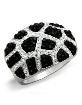 Ring Brass Rhodium + Ruthenium Top Grade Crystal Multi Color