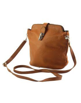 Clara leather Crossbody bag - Tan