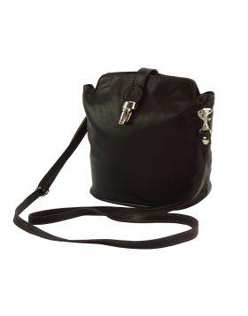 Clara leather Crossbody bag - Dark Brown
