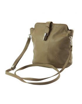 Clara leather Crossbody bag - Taupe
