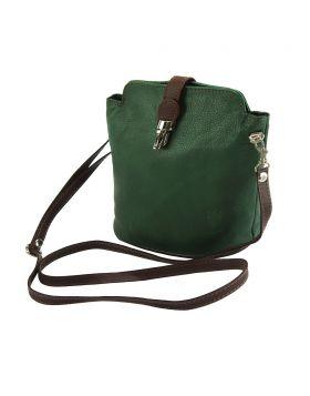 Clara leather Crossbody bag - Green