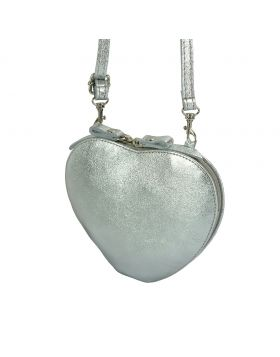 Cuore leather crossbody bag - Silver