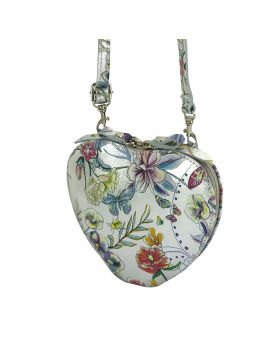 Cuore leather crossbody bag - Floral