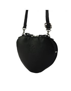 Cuore leather crossbody bag - Black