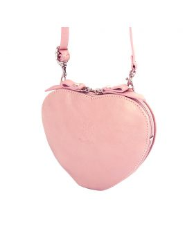 Cuore leather crossbody bag - Pink