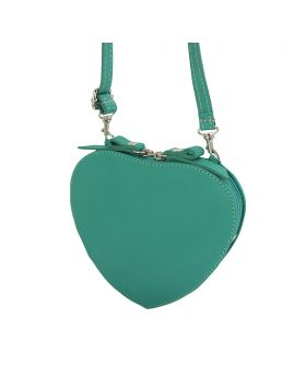 Cuore leather crossbody bag - Turquoise