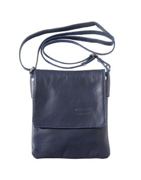 Vala Cross body leather bag - Blue