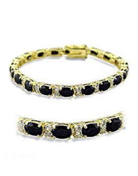 Bracelet Brass Gold AAA Grade CZ Jet