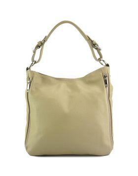 Artemisa leather Hobo bag - Taupe