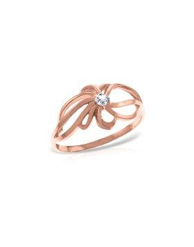 14K Rose Gold Ring Natural Diamond Series