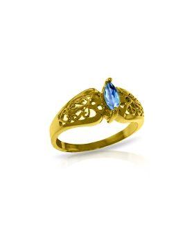 0.2 Carat 14K Gold Lily Blue Topaz Ring