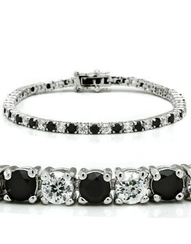 Bracelet Brass Rhodium AAA Grade CZ Black Diamond