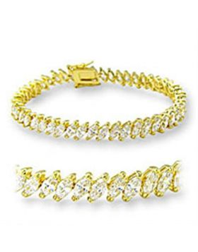 Bracelet Brass Gold AAA Grade CZ Clear