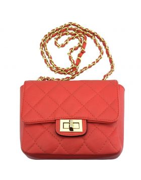 Be exclusive leather bag - Coral