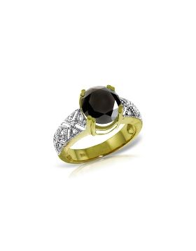 14K Gold White & Black Diamond Ring