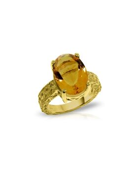 14K Gold Ring w/ Natural Oval Citrine