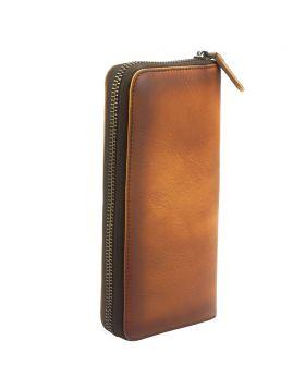 Clemenza Vintage leather wallet - Tan