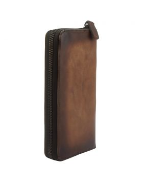 Clemenza Vintage leather wallet - Dark Brown