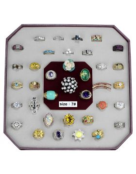 VK-026-SIZE7-7 - Brass Assorted Ring Assorted Assorted