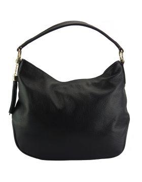 Selene leather Hobo bag - Black
