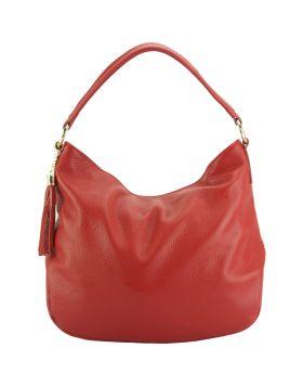 Selene leather Hobo bag - Red