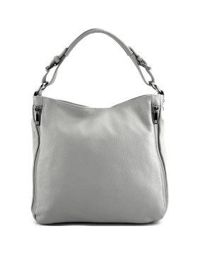 Artemisa leather Hobo bag - Grey