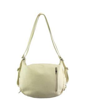 Prisca leather Shoulder bag - Beige