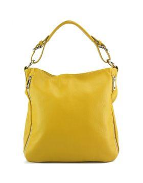 Artemisa leather Hobo bag - Yellow