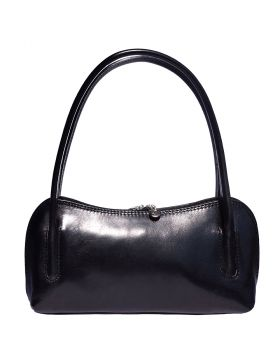 Serafina leather handbag -  black