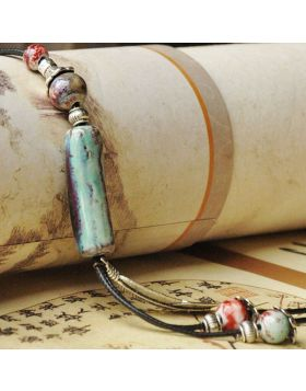 Hand-woven Ceramic Beads Necklace