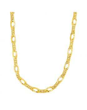 Twisted Oval Chain Necklace in 14k Yellow Gold-18''