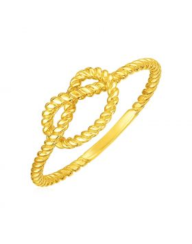 14k Yellow Gold Polished Knot Ring-7